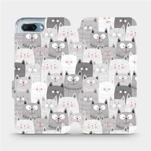 Flipové pouzdro Mobiwear na mobil Honor 10 - M099P Kočičky