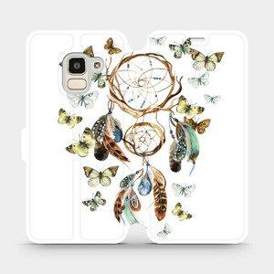 Flipové pouzdro Mobiwear na mobil Samsung Galaxy J6 2018 - M001P Lapač a motýlci