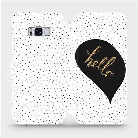 Flipové pouzdro Mobiwear na mobil Samsung Galaxy S8 - M013P Golden hello