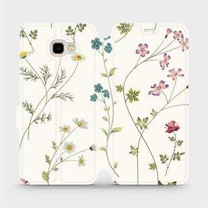 Flipové pouzdro Mobiwear na mobil Samsung Galaxy J4 Plus 2018 - MD03S Tenké rostlinky s květy