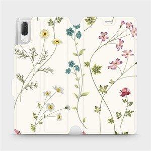 Flipové pouzdro Mobiwear na mobil Sony Xperia L3 - MD03S Tenké rostlinky s květy