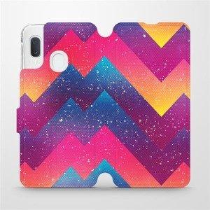 Flipové pouzdro Mobiwear na mobil Samsung Galaxy A20e - V110S Barevné klikyháky