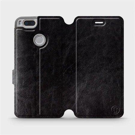 Parádní flip pouzdro Mobiwear na mobil Xiaomi Mi A1 v provedení C_BLS Black&Gray s šedým vnitřkem