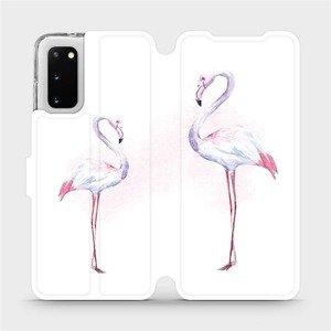 Flipové pouzdro Mobiwear na mobil Samsung Galaxy S20 - M005S Plameňáci