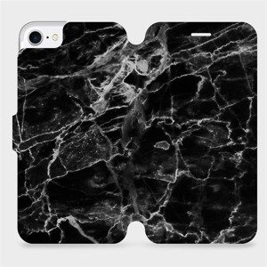 Flipové pouzdro Mobiwear na mobil Apple iPhone SE 2020 - V056P Černý mramor