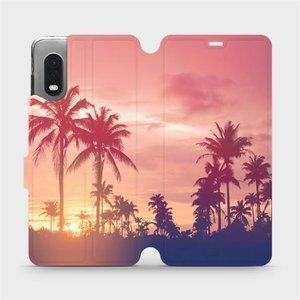 Flipové pouzdro Mobiwear na mobil Samsung Xcover PRO - M134P Palmy a růžová obloha