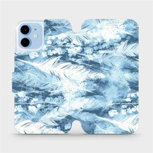 Flipové pouzdro Mobiwear na mobil Apple iPhone 12 mini - M058S Světle modrá horizontální pírka