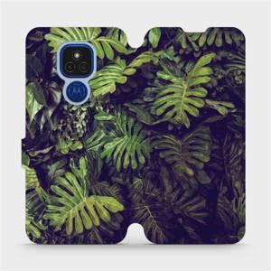 Flipové pouzdro Mobiwear na mobil Motorola Moto E7 Plus - V136P Zelená stěna z listů