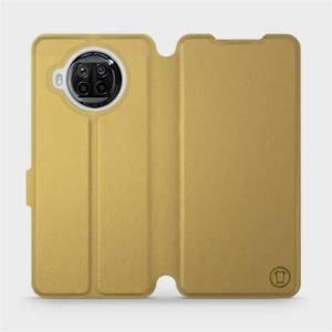 Flipové pouzdro Mobiwear na mobil Xiaomi MI 10T Lite v provedení C_GOS Gold&Gray s šedým vnitřkem
