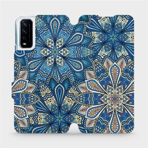 Flipové pouzdro Mobiwear na mobil Vivo Y11S - V108P Modré mandala květy
