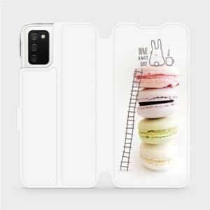 Flipové pouzdro Mobiwear na mobil Samsung Galaxy A02s - M090P Makronky - have a nice day