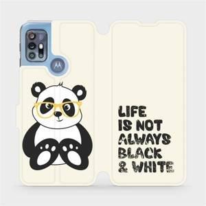 Flipové pouzdro Mobiwear na mobil Motorola Moto G20 - M041S Panda - life is not always black and white