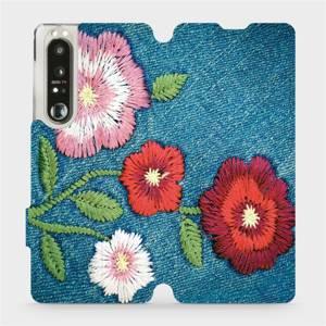 Flip pouzdro Mobiwear na mobil Sony Xperia 1 III - MD05P Džínové květy