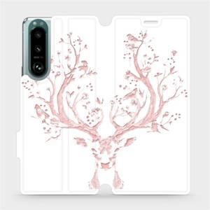 Flip pouzdro Mobiwear na mobil Sony Xperia 5 III - M007S Růžový jelínek