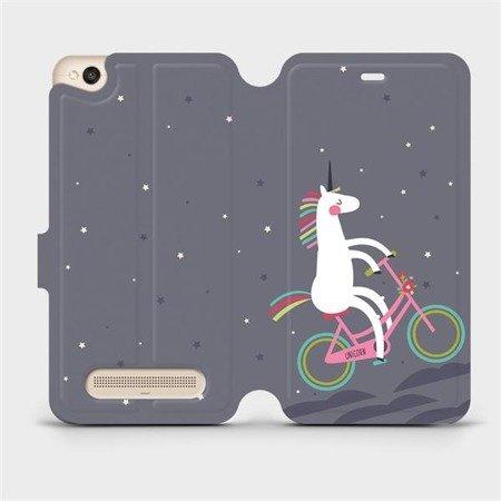 Flipové pouzdro Mobiwear na mobil Xiaomi Redmi 4A - V024P Jednorožec na kole