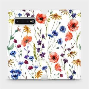 Flip pouzdro Mobiwear na mobil Samsung Galaxy S10 Plus - MP04S Luční kvítí