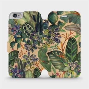 Flip pouzdro Mobiwear na mobil Apple iPhone 6s / iPhone 6 - VP05S Sukulenty