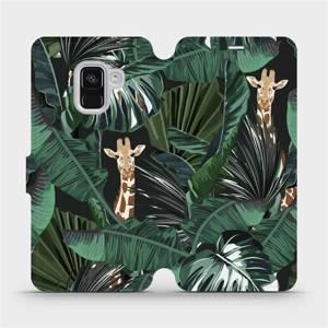 Flip pouzdro Mobiwear na mobil Samsung Galaxy A8 2018 - VP06P Žirafky