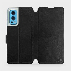 Flip pouzdro Mobiwear na mobil OnePlus Nord 2 5G v provedení C_BLS Black&Gray s šedým vnitřkem