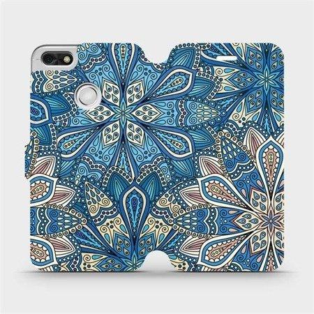 Flipové pouzdro Mobiwear na mobil Huawei P9 Lite mini - V108P Modré mandala květy