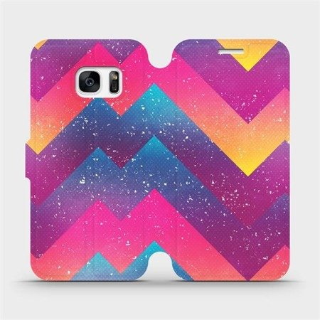 Flipové pouzdro Mobiwear na mobil Samsung Galaxy S7 Edge - V110S Barevné klikyháky