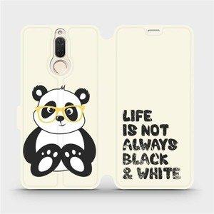Flipové pouzdro Mobiwear na mobil Huawei Mate 10 Lite - M041S Panda - life is not always black and white