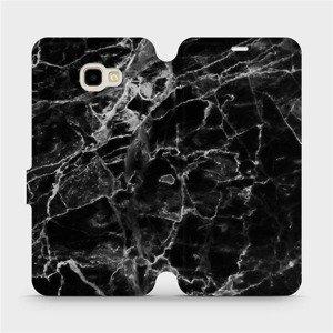 Flipové pouzdro Mobiwear na mobil Samsung Galaxy J4 Plus 2018 - V056P Černý mramor