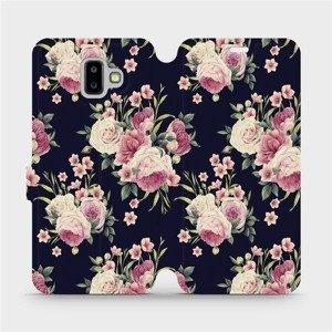 Flipové pouzdro Mobiwear na mobil Samsung Galaxy J6 Plus 2018 - V068P Růžičky