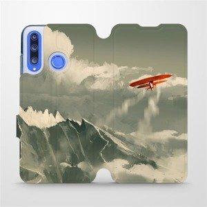 Flipové pouzdro Mobiwear na mobil Honor 20 Lite - MA03P Oranžové letadlo v horách