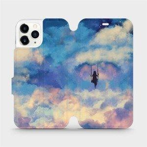 Flipové pouzdro Mobiwear na mobil Apple iPhone 11 Pro - MR09S Dívka na houpačce v oblacích - výměna