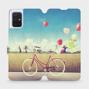 Flipové pouzdro Mobiwear na mobil Samsung Galaxy A71 - M133P Kolo a balónky
