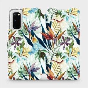 Flipové pouzdro Mobiwear na mobil Samsung Galaxy S20 - M071P Flóra