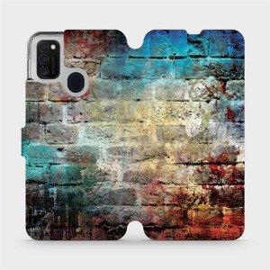 Flipové pouzdro Mobiwear na mobil Samsung Galaxy M21 - V061P Zeď