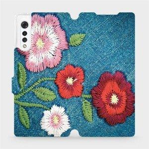 Flipové pouzdro Mobiwear na mobil LG Velvet - MD05P Džínové květy