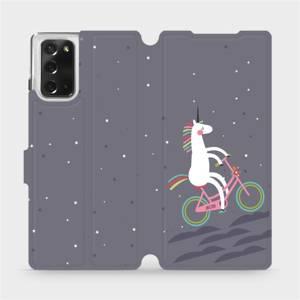 Flipové pouzdro Mobiwear na mobil Samsung Galaxy Note 20 - V024P Jednorožec na kole