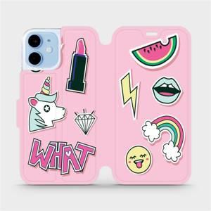 Flipové pouzdro Mobiwear na mobil Apple iPhone 12 mini - M129S Růžové WHAT