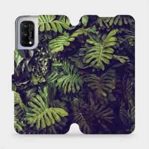 Flipové pouzdro Mobiwear na mobil Realme 7 5G - V136P Zelená stěna z listů