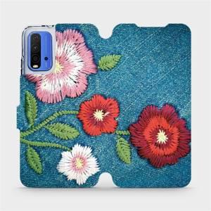 Flipové pouzdro Mobiwear na mobil Xiaomi Redmi 9T - MD05P Džínové květy