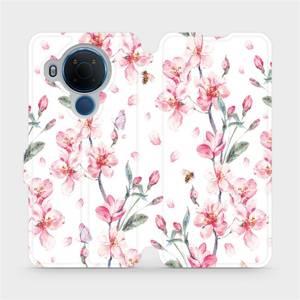 Flipové pouzdro Mobiwear na mobil Nokia 5.4 - M124S Růžové květy