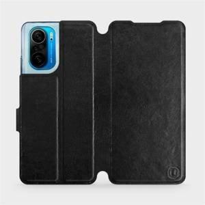 Flipové pouzdro Mobiwear na mobil Xiaomi Mi 11i / Xiaomi Poco F3 v provedení C_BLS Black&Gray s šedým vnitřkem