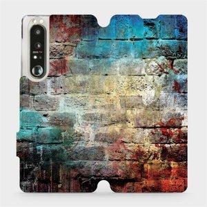 Flip pouzdro Mobiwear na mobil Sony Xperia 1 III - V061P Zeď
