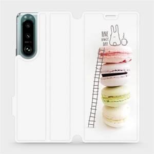 Flip pouzdro Mobiwear na mobil Sony Xperia 5 III - M090P Makronky - have a nice day
