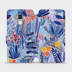 Flip pouzdro Mobiwear na mobil Honor 7 Lite - MP03P Modrá květena