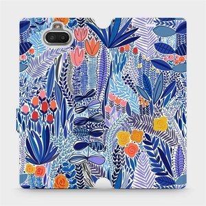 Flip pouzdro Mobiwear na mobil Sony Xperia 10 - MP03P Modrá květena