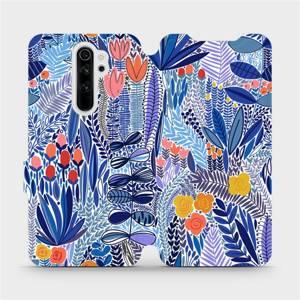 Flip pouzdro Mobiwear na mobil Xiaomi Redmi Note 8 Pro - MP03P Modrá květena