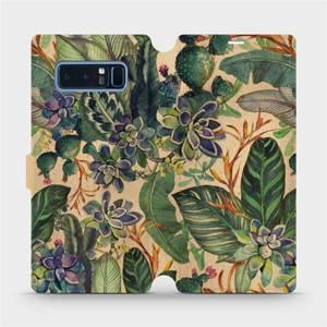 Flip pouzdro Mobiwear na mobil Samsung Galaxy Note 8 - VP05S Sukulenty