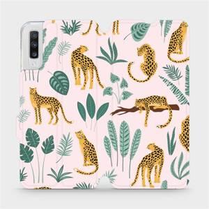 Flip pouzdro Mobiwear na mobil Samsung Galaxy A70 - MP07S Leopardi