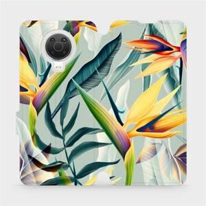 Flip pouzdro Mobiwear na mobil Nokia G20 - MC02S Žluté velké květy a zelené listy