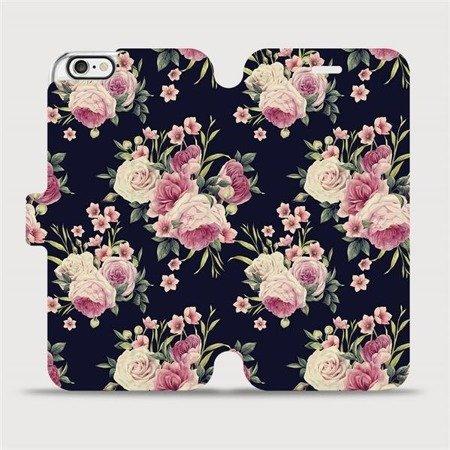 Flipové pouzdro Mobiwear na mobil Apple iPhone 6 / iPhone 6s - V068P Růžičky