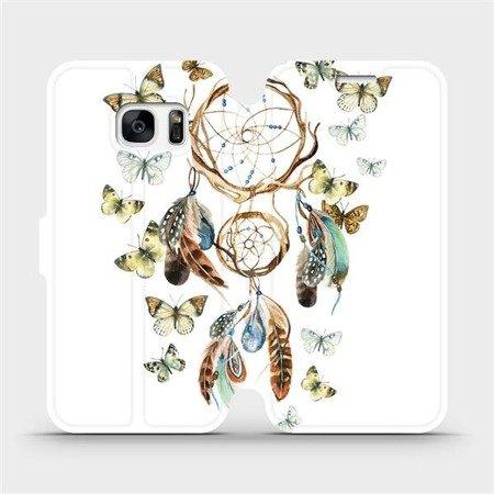 Flipové pouzdro Mobiwear na mobil Samsung Galaxy S7 Edge - M001P Lapač a motýlci